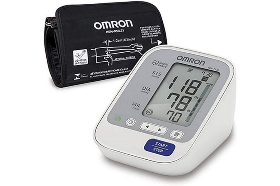 Monitor de Pressão Arterial de Braço Elite, Omron, HEM-7130-BR