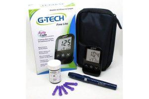 Medidor de Glicose G Tech Free Lite - Kit Completo MAIS 1 Caixa de Tiras com 50 unidades