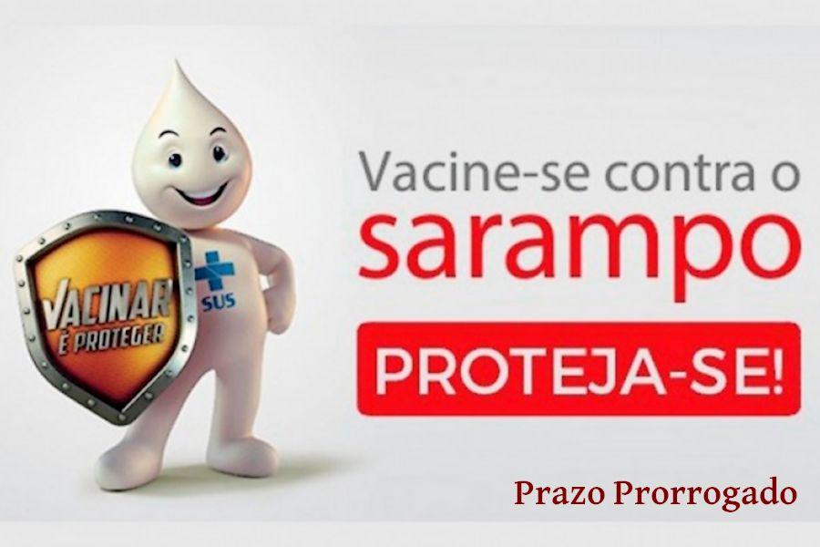Prorrogado prazo para vacinação de adultos contra Sarampo